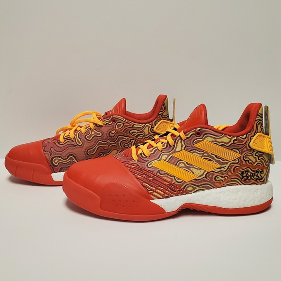 Adidas men adidas TMac Millenium Tracy Mcgrady basketball shoes boost basketball ScarletGold MetallicRed